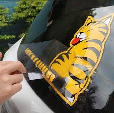 Cat Rear Window Wiper Removable Decal