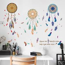 Dreamcatcher Wall Stickers Room Wall Decorations Living Room Wallpaper Stickers Personality Creative Bedroom Bedside Wall Stickers