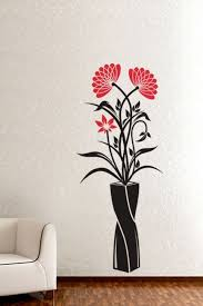 Wall Decals Vase Of Wildflowers Walltat Com Art Without Boundaries Cool Wall Art Acrylic Wall Decor Wall Painting Decor