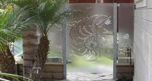 art glasetal cast etched and
