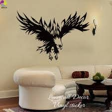 Flying Eagle Wall Sticker Living Room Bedroom Large Eagle Soar Bird Swing Wing Wall Decal Kids Room Vinyl Home Decor Art Mural Aliexpress