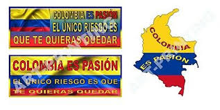 Flag And Map Of Colombia Colombian Car Decal Sticker