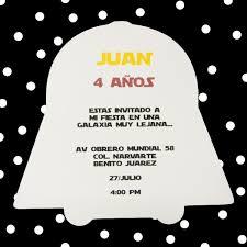 Invitaciones Cumpleanos Star Wars Forma Darth Vader 8 50 En