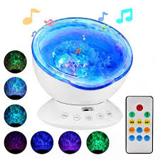 Ocean Wave Projector Led Remote Control Undersea Projector Lamp 7 Color Changing Music Player Night Light Projector For Baby Kids Adults Bedroom Living Room Decoration White Walmart Com Walmart Com