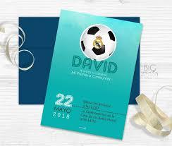 Invitacion Futbol Real Madrid Bigpartystudio Espana