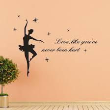 Shop Home Decor Ballet Wall Sticker Logo Sticker Decal Bedroom Vinyl Art Mural Online From Best Wall Stickers Murals On Jd Com Global Site Joybuy Com