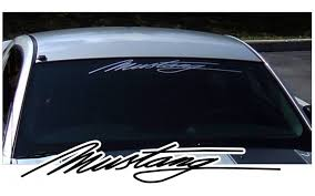 Graphic Express Mustang Script Windshield Decal 5 X 32