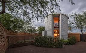 saying i do to a tiny grain silo home