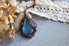large stone pendant labradorite pendant