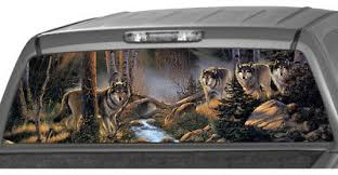 Wild Wolf Pack In The Forest Rear Window Graphic Decal Tint Suv Ute Truck Wrap Ebay