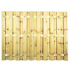 Unbranded 6 Ft X 8 Ft Pressure Treated Pine Shadowbox Fence Panel 0320850 The Home Depot