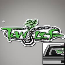 Tow Life Rear Window Decal Perforated 18 X 32 Green Tow Life Clothing Accessories