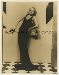 POLLY WALTERS deluxe 11x14 still 1930s modeling sexy black gown on  checkered floor by Fryer! | #1931190601