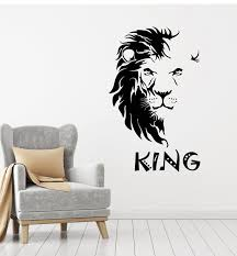 Vinyl Wall Decal Abstract African Lion Head King Tribal Stickers Mural Wallstickers4you