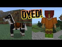 dye leather armor and horse armor