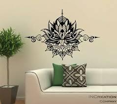 Mandala Vinyl Wall Decal Om Symbol Wall Sticker Lotus Flower Home Bedroom Yoga Ebay
