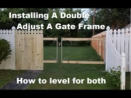 Diy Double Adjust A Gate Frame Install For Your Fence Youtube