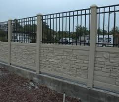 Faux Stone Fence Pillars By Elyria Fence