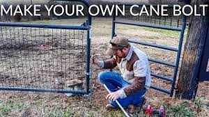 Make Your Own Cane Bolt Farm Gate Anchor Youtube