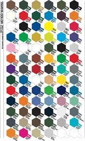 tamiya paint colour charts enamel