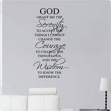 46 Serenity Prayer God Grant Me The Serenity To Accept The Things I Cannot Change The Courage To Chan With Images Serenity Prayer Wall Decal Sticker Wall Stickers Murals