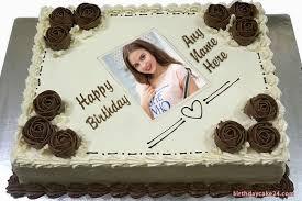 chocolate flower birthday cake with