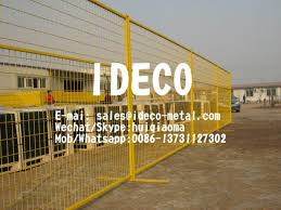 Temporary Construction Fences With Steel Base Portable Fencing Movable Perimeter Patrol Welded Wire Panels