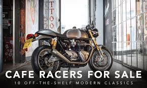 10 off the shelf modern cafe racers