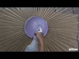 sunburst mirror out of bamboo skewers