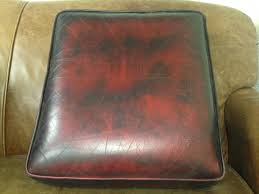 chesterfield seat cushion in oxblood