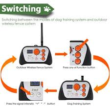 Greensen Dog Fence Dog Fence Rechargeable Dog Training System 2 In 1 Kit With Training Collar Walmart Com Walmart Com