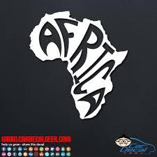 Africa Continent Vinyl Car Window Decal Sticker