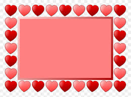 heart picture frames line art drawing