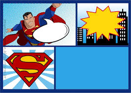 Superman Comic Kit Para Imprimir Gratis Invitaciones De Superman Fiesta De Superman Invitaciones De Batman