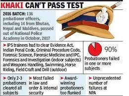 fail to clear police academy exam