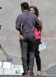 Katharine McPhee and Elyes Gabel kiss and canoodle on set of ...