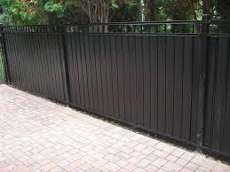 Privacy Slats In Ornamental Iron Fence Wrought Iron Fences Iron Fence Fence Design