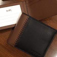 mens 2 piece baseball leather wallet