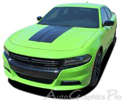 For 2015 2020 Dodge Charger Hood Blackout 3m Vinyl Graphics Decals Stripes Kit Ebay