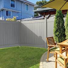 Freedom Bolton 6 Ft H X 8 Ft W Woodgrain Gray Vinyl Flat Top Fence Panel In The Vinyl Fence Panels Department At Lowes Com