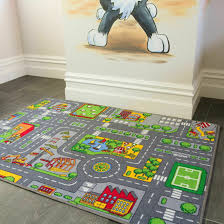 Fun Interactive Gray Kids Playmat Children S Play Village Mat Town City Road Rug For Sale Online