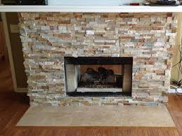 stone tile fireplace surround