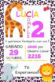 Cumpleanos Safari Tarjeta Invitacion Diseno Original