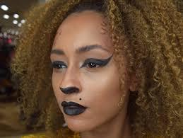 easy leopard print halloween makeup look