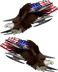 American Flag Eagle Strike Semi Decals Xtreme Digital Graphix