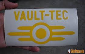 Vault Tec Logo Bumper Sticker Fallout 4 Cosplay Vault Tec Vaultec Stic Skimprops
