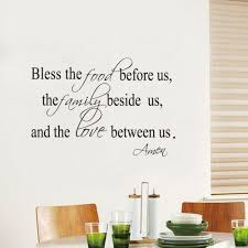 Yoolife Bless The Food Family Love Religious Vinyl Wall Decal Stickers Mural Art Z2052