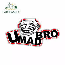Earlfamily 13cm X 6 9cm For You Mad Bro Internet Troll Face Trolling Car Decal Car Truck Bumper Decoration Scratch Proof Decal Car Stickers Aliexpress