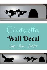 Disney Jaq And Gus Disney Wall Decal Lucifer Mouse House Cinderella Mice Vinyl Decal Cinderella Decal Cinder Disney Wall Decals Wall Decals Disney Wall