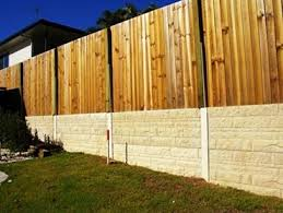 New Concrib Fence Connections Top Off Concrete Sleeper Walls Architecture Design